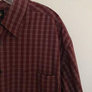 Dockers Plaid Long Sleeve Button Down Shirt